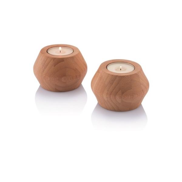 Bambus Teelichthalter (H 6cm; Ø 8cm)