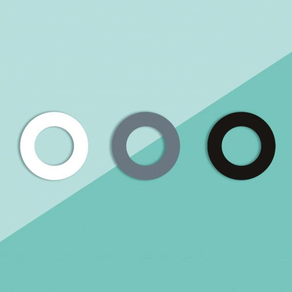Soulbottles 3er-Pack Ersatzgummis in den Farben weiß, grau, schwarz