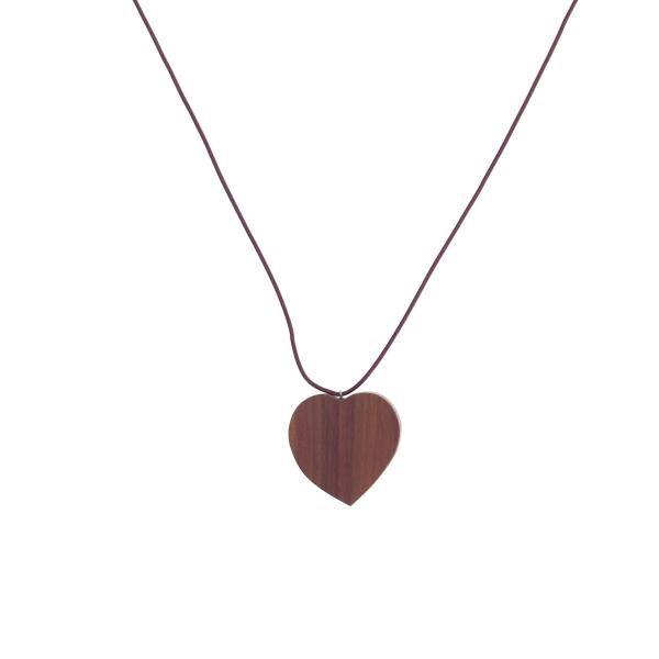 Halskette aus Palisanderholz- handgefertigt