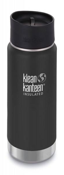 Trinkflasche Klean Kanteen Wide Vakuum isoliert 473ml mit Cafe Cap 2.0
