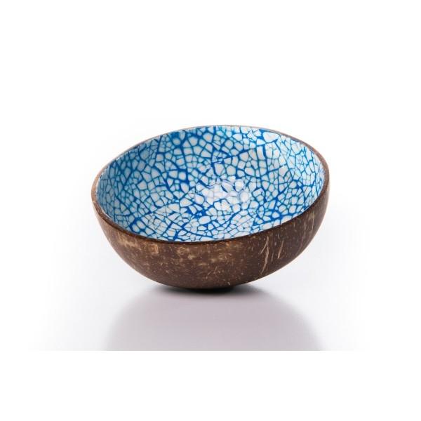 Kokosnussschale Ei Mosaik (H ca. 6cm; Ø 13cm) Blau