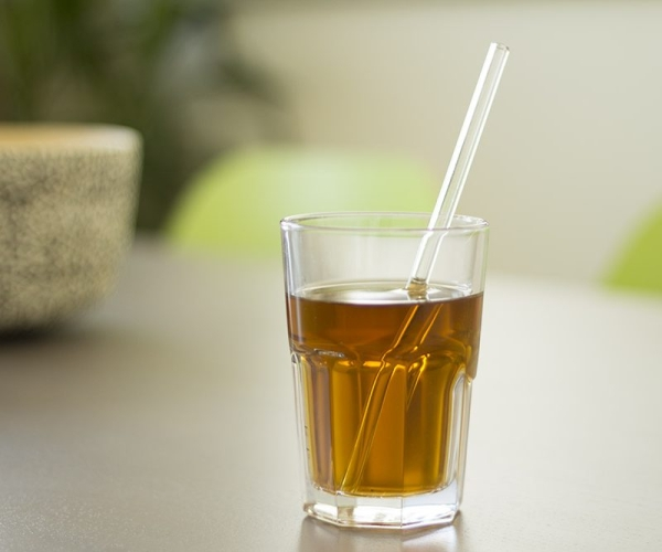 Trinkhalm, Strohhalm aus Glas