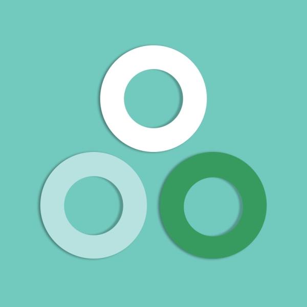 Soulbottles 3er Pack Gummis, grün,türkis, weiß