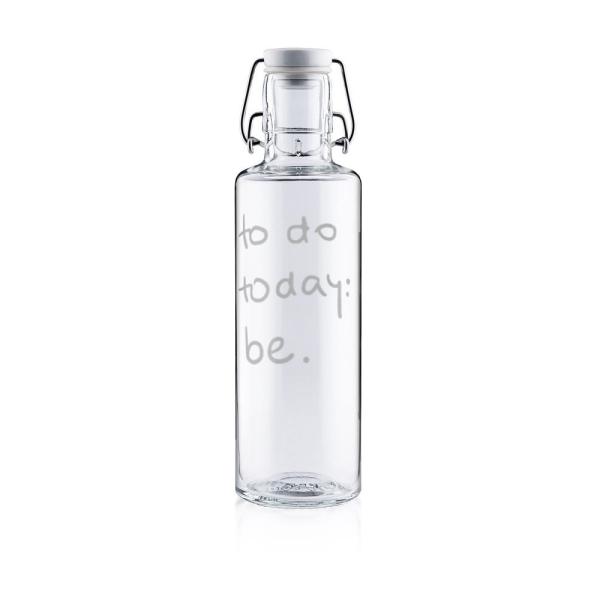 0,6 Liter Soulbottle Glastrinkflasche Motiv Just be