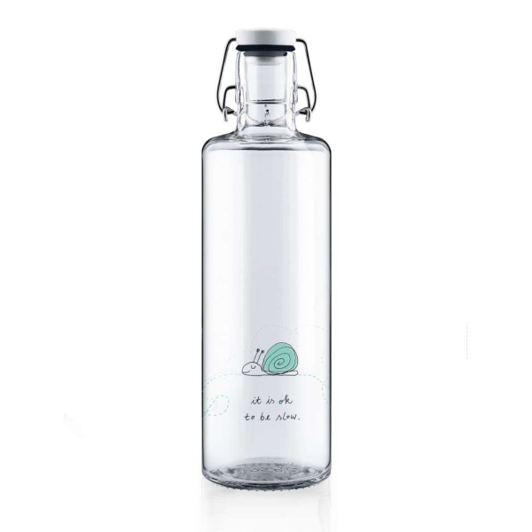 1,0L Soulbottle Glasflasche - Ok to be slow