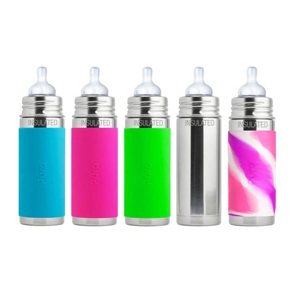 Purakiki Isolierflasche mit Sauger 250ml - Übersicht Farben