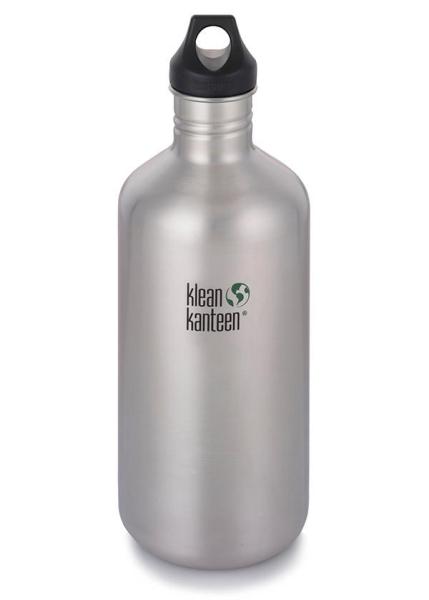 Klean Kanteen Classic 1900ml mit Loop Cap, Silber