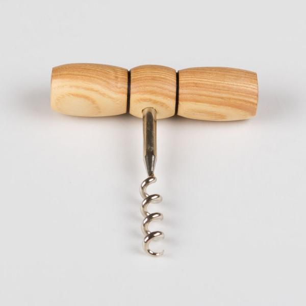 Korkenzieher aus Eschenholz handgefertigt