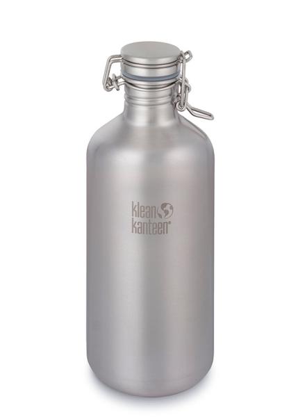 Klean Kanteen Growler Trinkflasche - 1900ml - gebürsteter Edelstahl