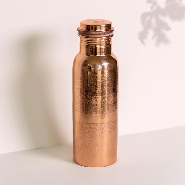 Kupfer Trinkflasche graviert 600ml