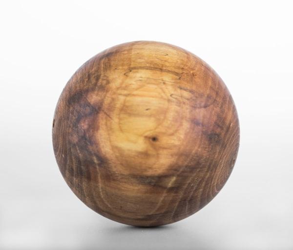Dekokugel aus Nussbaumholz - Unikat