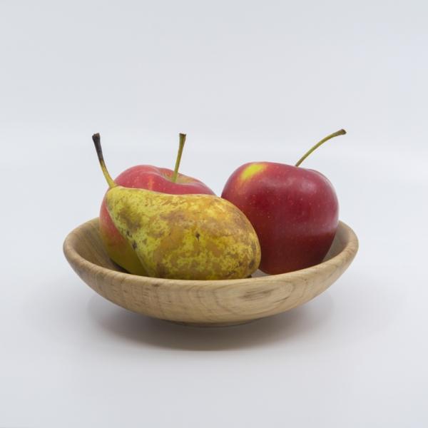 Kleine Handgefertigte Holzschale aus Nußbaumholz Unikat als Obstschale