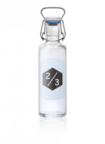 0,6L Soulbottle Glasflasche - Zweidrittel