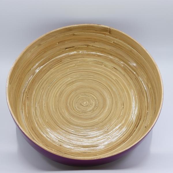 Banbusschale lila lackiert Durchmesser 39 cm