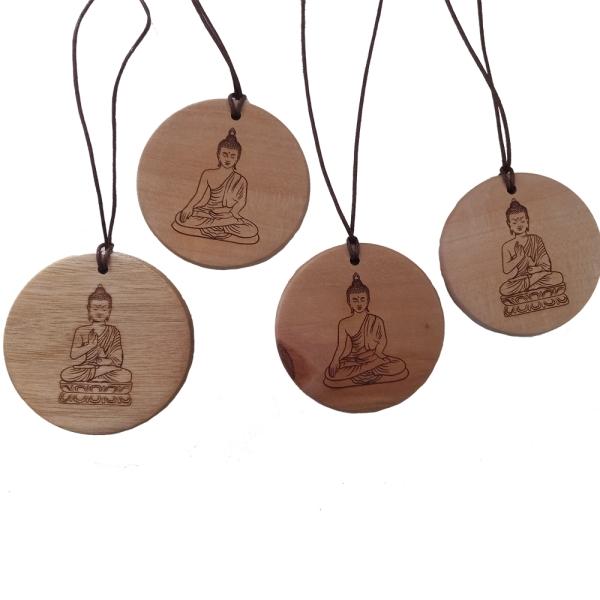 Holzkette Buddha