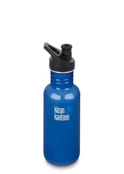 Trinkflasche Classic Klean Kanteen mit Sport Cap 3.0 (532ml) Farbe Blue Planet
