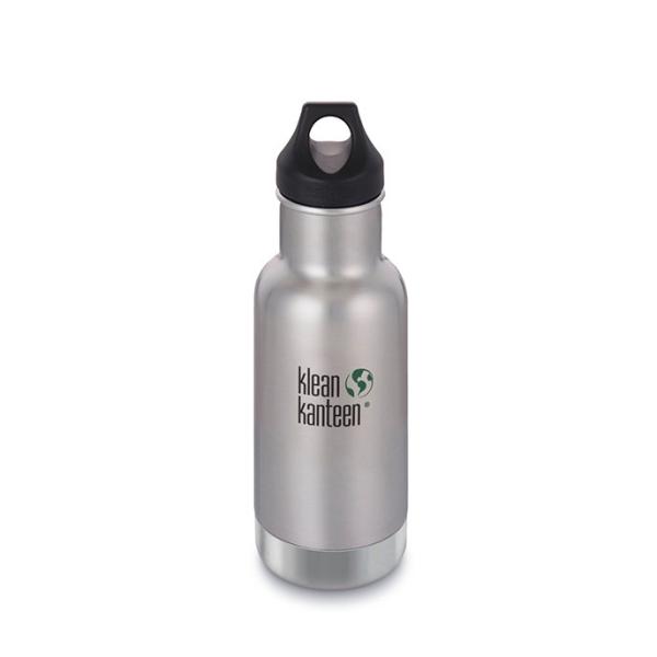 Edelstahl Trinkflasche Classic 355ml isoliert mit Loop Cap