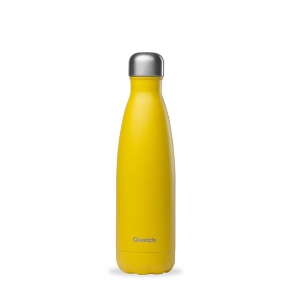 Isolierte Trinkflasche aus lebensmittelechtem Edelstahl 500ml Gelb