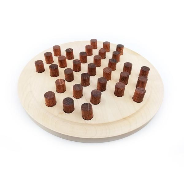 Solitär Spiel aus Holz handgefertigt 170