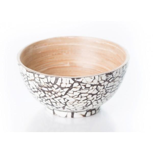 Bambusschale Mosaik (H 5cm; Ø 10 cm)