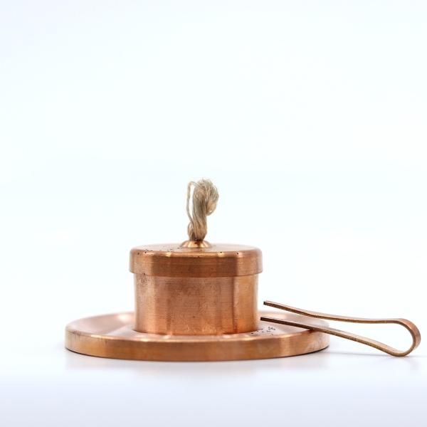 Öl-Teelichter Kupfer mit Zange