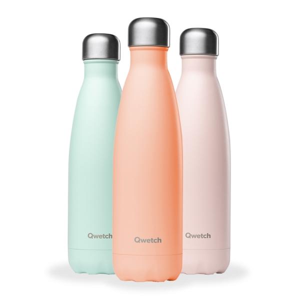 Isolierte Trinkflasche 500ml - Pastell Farben