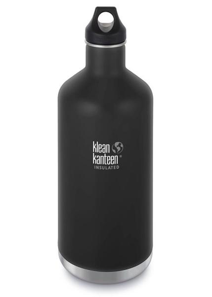 Edelstahl Trinkflasche Classic 1900ml isoliert mit Loop Cap - Schwarz