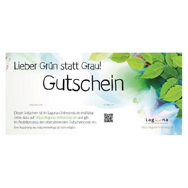 Gutschein - Lieber Grün statt Grau - digital zusenden