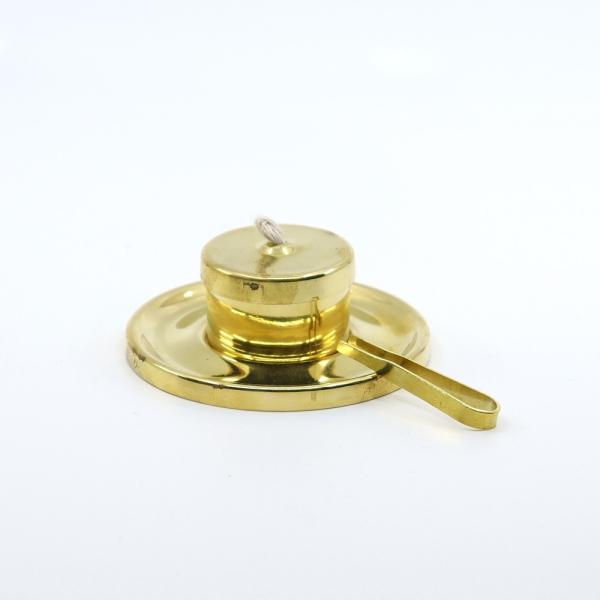Öl-Teelichter Messing poliert mit Zange