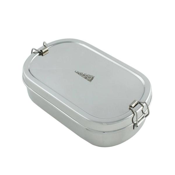 Edelstahl Lunchbox Oval inkl. Minibox
