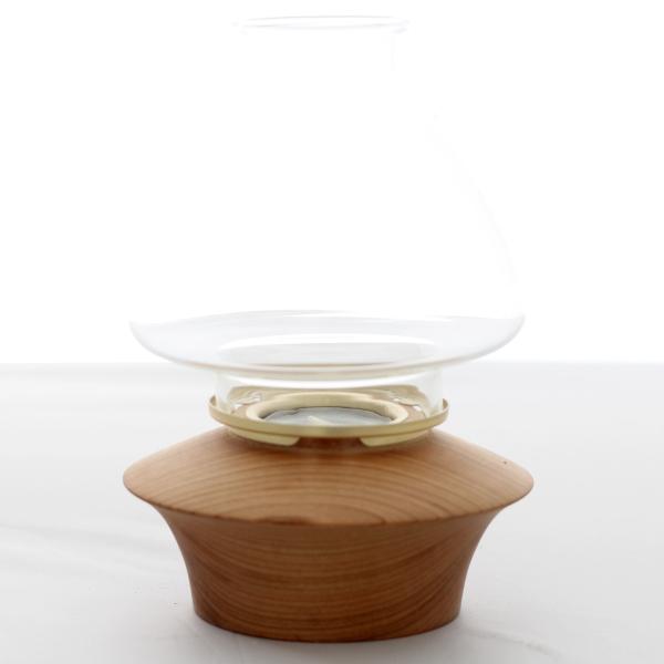 Teelicht klein mit Windschutz aus Glas Ø 12 cm