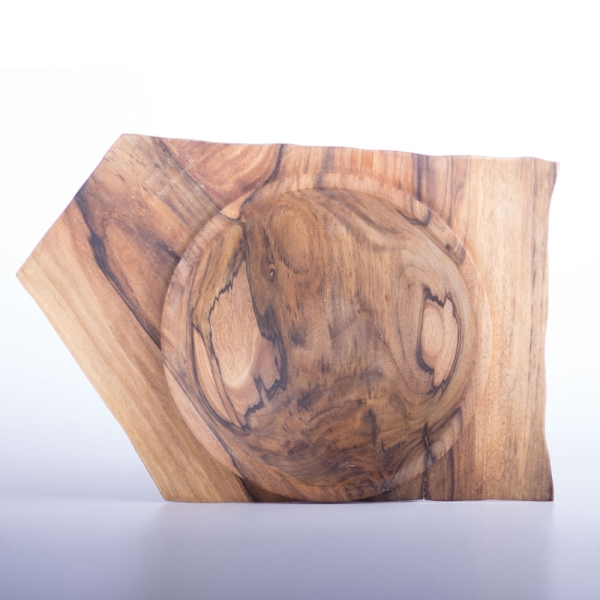 Naturrandschale Nussbaumholz Zwiesel mit besonderem Rand