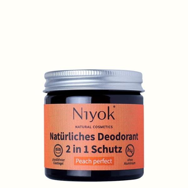 Deocreme im Glas - vegan, ohne Mikroplastik, natürliche Inhaltsstoffe - Deutsches Qualitätsprodukt - Pfirsich