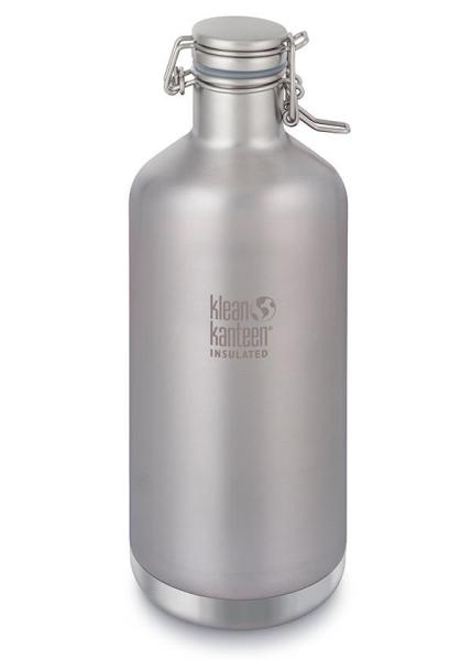 Klean Kanteen isolierter Growler Trinkflasche - 1900ml, Silber