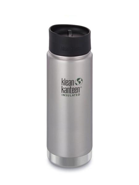 Trinkflasche Klean Kanteen Wide Vakuum isoliert 592ml mit Cafe Cap 2.0