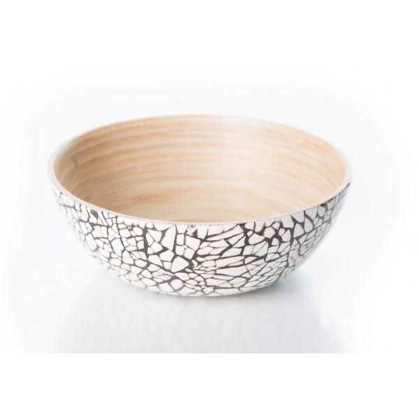 Bambusschale Mosaik (H 6cm; Ø 15 cm)