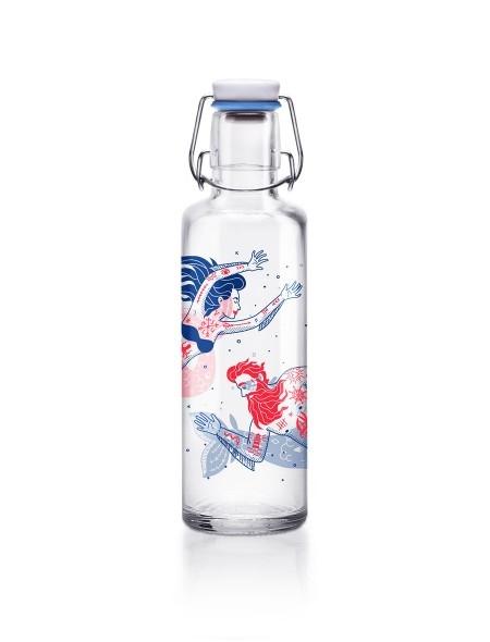 0,6L Soulbottles Glasflasche - Meermenschen