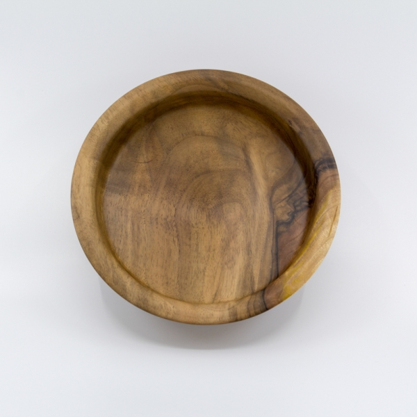 Tiefe Holzschale aus Nußbaumholz Unikat