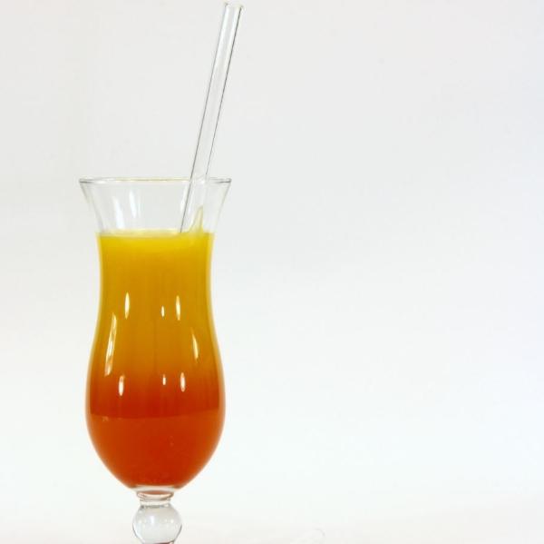 Glas Trinkhalm XL - gerade