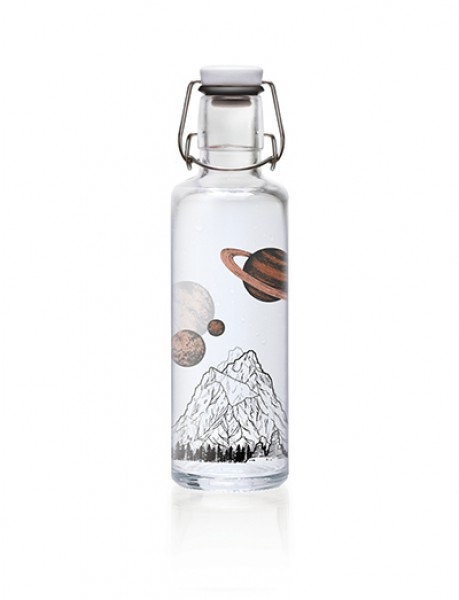 Soulbottles Trinkflasche aus Glas (600ml) - Made in Germany Motiv the sky is not the limit