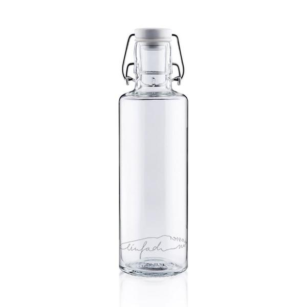 0,6L Soulbottle Glasflasche - Einfach nur Wasser