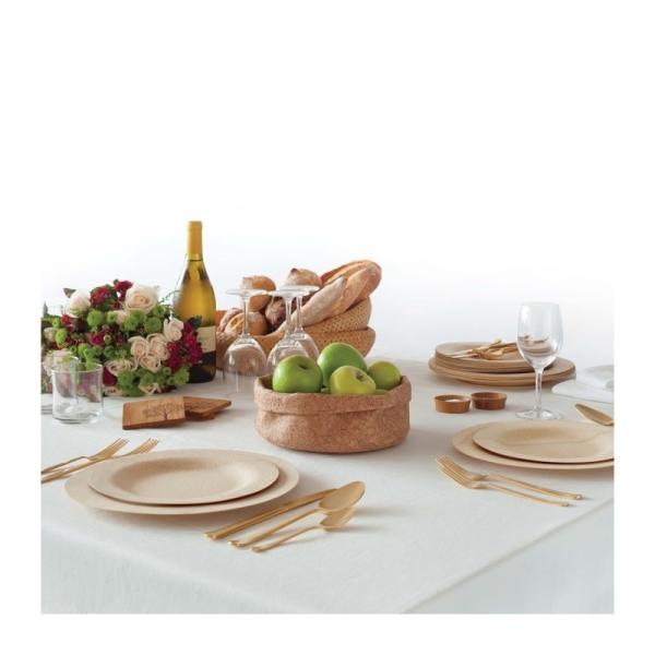 Bambus Set (Löffel, Gabel, Messer, Teller Ø28cm)