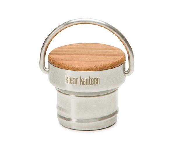 Bambus Edelstahl Deckel für Klean Kanteen Classic Flaschen (H 47mm; Ø 53mm)
