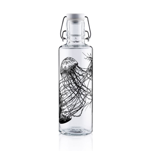0,6L Soulbottle Glasflasche - Jellyfish