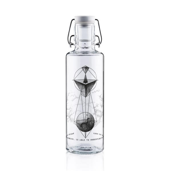 0,6L Soulbottle Glasflasche - Whoever understands Geometry