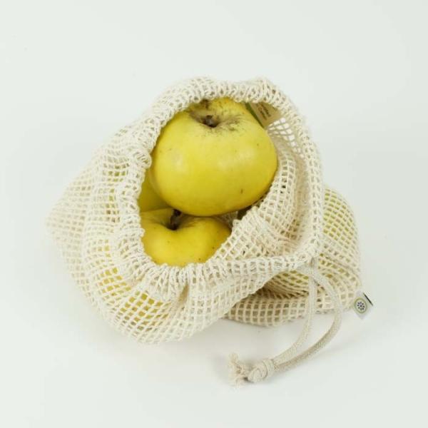 Lebensmittel Beutel aus Bio Baumwolle Medium - Meshgewebe